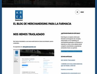 kreamarket.wordpress.com screenshot