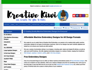 kreativekiwiembroidery.co.nz screenshot