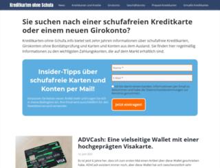 kreditkarten-ohne-schufa.info screenshot