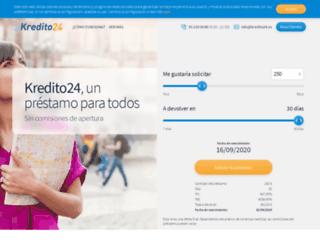 kredito24.es screenshot