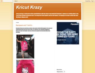 kricutkrazy.com screenshot