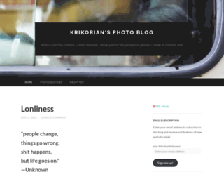 krikorian.wordpress.com screenshot