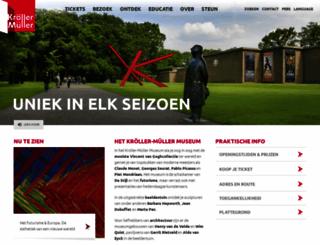 krollermuller.nl screenshot