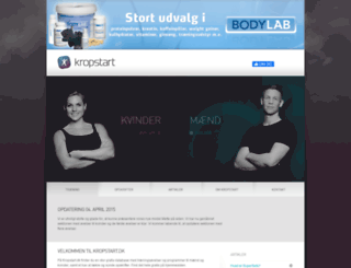 kropstart.dk screenshot