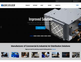 krueger-hvac.com screenshot