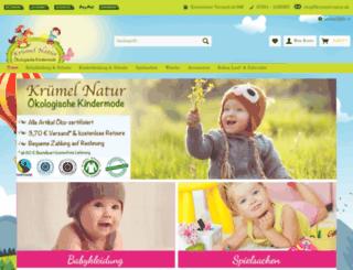 kruemel-natur.de screenshot