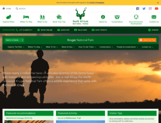 krugernationalpark.org screenshot