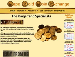 krugerrandsa.co.za screenshot