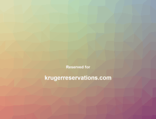 krugerreservations.com screenshot