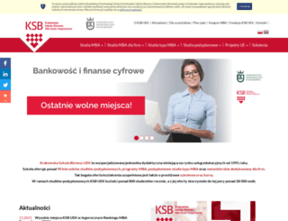 ksb.uek.krakow.pl screenshot