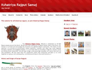 kshatriyarajputsamaj.webs.com screenshot