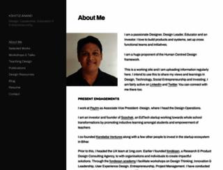 kshitizanand.com screenshot