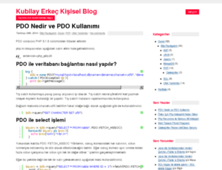kubilay.net screenshot