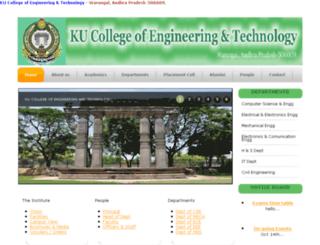 kucetwgl.ac.in screenshot