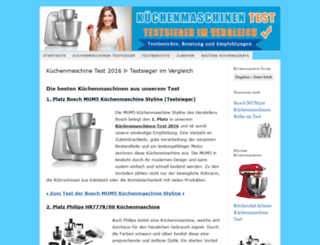 Access Kuechenmaschinen Tests Org Kuchenmaschine Test 2015 2016