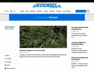 kuenselonline.com screenshot
