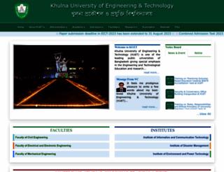 kuet.ac.bd screenshot