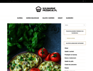 kulinarneprzeboje.pl screenshot