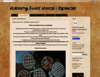 kulinarnyswiatkoncziiszpileczki.blogspot.com screenshot