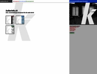 kulturinfo.ch screenshot