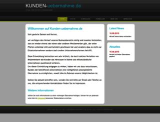 kunden-uebernahme.de screenshot