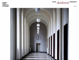 kunstakademie-duesseldorf.de screenshot