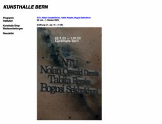 kunsthalle-bern.ch screenshot