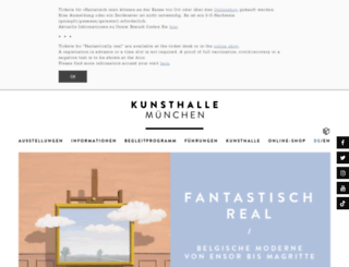 kunsthalle-muc.de screenshot