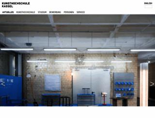 kunsthochschulekassel.de screenshot