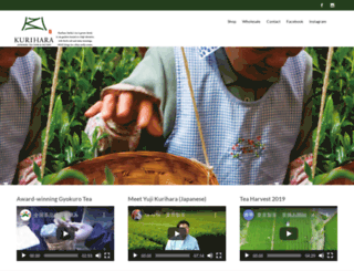 kuriharatea.com screenshot