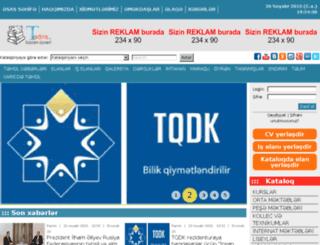 kurs.edu.az screenshot