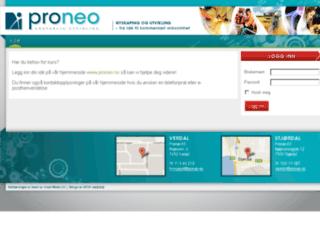 kurs.proneo.no screenshot