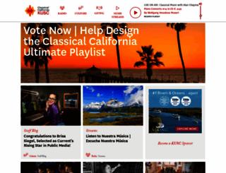 kusc.org screenshot