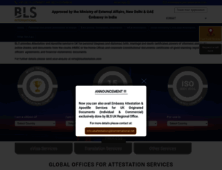 kuwait.blsattestation.com screenshot