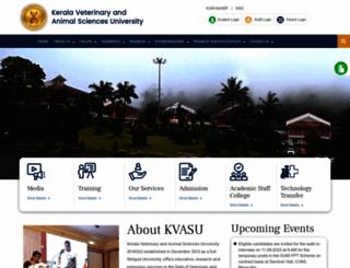 kvasu.ac.in screenshot