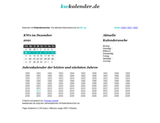 kwkalender.de screenshot