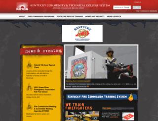 kyfirecommission.kctcs.edu screenshot