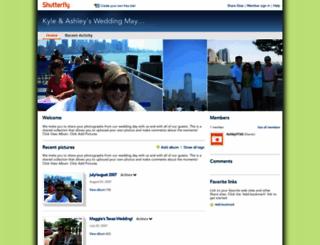 kylelovesashley.shutterfly.com screenshot
