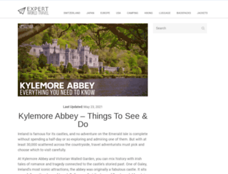 kylemoreabbeytourism.ie screenshot