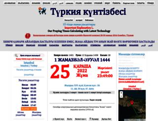 kz.turktakvim.com screenshot