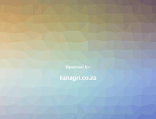 kznagri.co.za screenshot