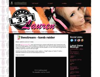 l337lauren.squarespace.com screenshot