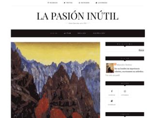 la-pasion-inutil.blogspot.mx screenshot