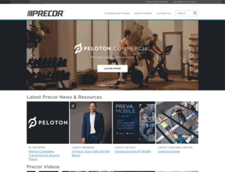 la.precor.com screenshot