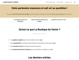 laboutiqueduvernis.fr screenshot