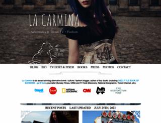 lacarmina.com screenshot