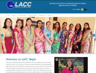 laccnepal.org screenshot