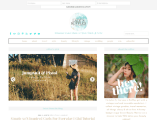 lacenruffles.com screenshot