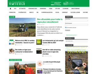 lachampagneviticole.fr screenshot