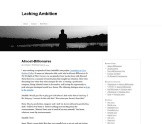 lackingambition.com screenshot